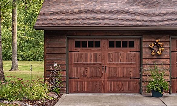 Stamped Carriage House Garage Doors